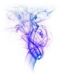 Fumo colorato isolato su fondo bianco fotografie stock