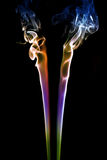 Fumo colorato sul nero 3 fotografia stock