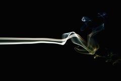 Fumo colorato sul nero 5 immagine stock libera da diritti