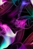 Fumo colorato sul nero Fotografia Stock Libera da Diritti