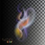 Fumo colorato trasparente Fotografia Stock Libera da Diritti