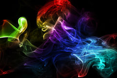 Fumo colorido Imagem de Stock