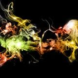 Fumo colorido abstrato foto de stock royalty free
