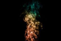 Fumo colorido abstrato Foto de Stock