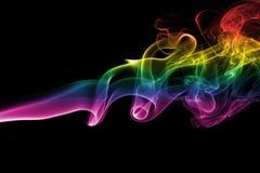 Fumo colorido do arco-íris foto de stock royalty free