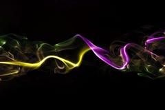 Fumo colorido do sumário imagens de stock