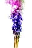 Fumo colorido isolado no fundo branco Imagens de Stock