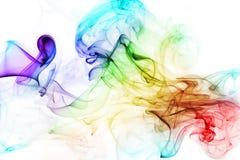 Fumo colorido no fundo branco Imagens de Stock Royalty Free