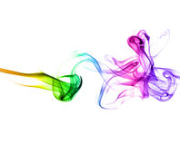 Fumo con i colori del Rainbow Immagini Stock