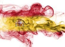 Fumo da bandeira da Espanha imagens de stock