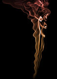 Fumo da cor sobre o fundo preto Imagens de Stock Royalty Free