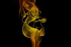 Fumo da flama Imagens de Stock