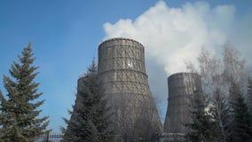 Fumo da planta industrial filme
