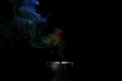 Fumo dal portacenere Fotografia Stock Libera da Diritti