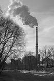 Fumo dalla fabbrica Fotografia Stock