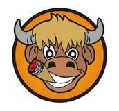 Fumo de Bull Fotografia de Stock
