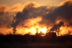 Fumo de Factorys Foto de Stock Royalty Free