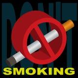 Fumo de proibição do sinal Fotografia de Stock Royalty Free