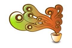 Fumo del caffè illustrazione vettoriale
