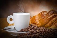 Fumo del caffè Fotografie Stock Libere da Diritti