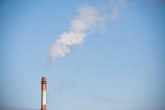Fumo del camino del CO2 Fotografie Stock Libere da Diritti