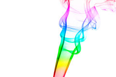 Fumo del corno del Rainbow Fotografie Stock