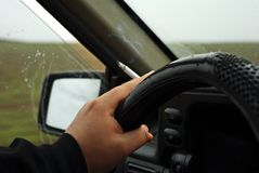 Fumo del driver Fotografia Stock