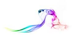 Fumo del Rainbow di Colorfull Fotografie Stock Libere da Diritti
