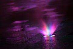 Fumo dell'arcobaleno nello scuro Immagine Stock Libera da Diritti