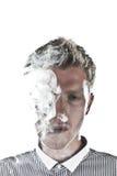 Fumo dell'uomo Immagine Stock