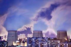 Fumo della centrale elettrica immagine stock libera da diritti