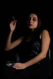 Fumo della donna Immagini Stock Libere da Diritti