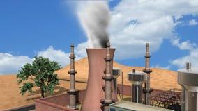Fumo della fabbrica illustrazione di stock