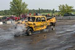 Fumo destruído do camionete Imagem de Stock Royalty Free