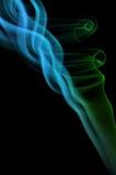 Fumo di verde blu Fotografia Stock Libera da Diritti