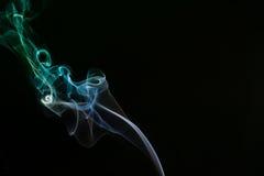 Fumo di verde blu Immagini Stock Libere da Diritti