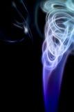 Fumo digital colorido abstrato no fundo preto artístico Fotos de Stock Royalty Free