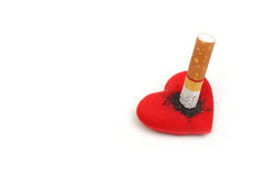 Fumo distruggendo salute Fotografia Stock Libera da Diritti