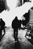 Fumo do mistério preto e branco Imagens de Stock