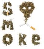 Fumo do sinal feito do cigarro Imagens de Stock Royalty Free