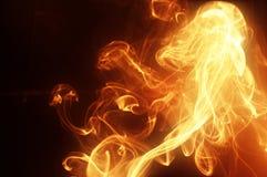 Fumo dorato luminoso fotografie stock libere da diritti