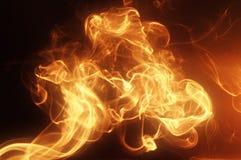 Fumo dorato luminoso fotografia stock libera da diritti