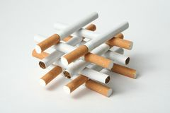 Fumo dos cigarros Fotografia de Stock