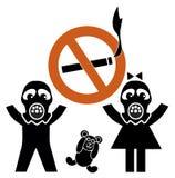 Fumo e bambini della seconda mano Fotografia Stock