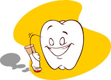 Fumo e dentario Immagini Stock Libere da Diritti