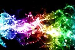 Fumo e luzes Imagens de Stock