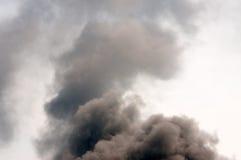 Fumo escuro grosso fotografia de stock royalty free