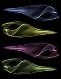 Fumo, fondo nero Fotografia Stock Libera da Diritti