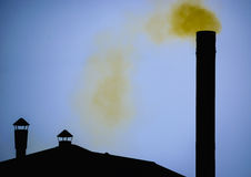 Fumo giallo Fotografia Stock