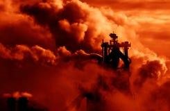 Fumo industriale Fotografie Stock